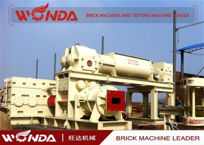 High Manganese Steel Red Clay Bricks Manufacturing Machine With Double Shaft Mixer