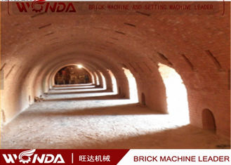 Hoffman Brick Tunnel Kiln , Red Clay Brick Making Kiln With Tunnel Dryer