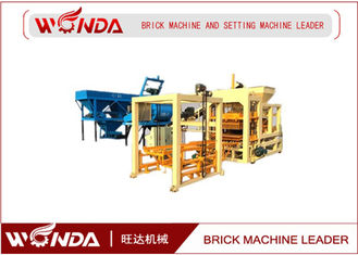 QT4 - 25 Automatic Brick Making Machine , Concrete Cement Block Maker Steel Frame