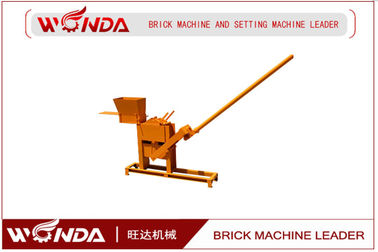 Manual Semi Automatic Brick Making Machine , Interlocking Brick Maker Carbon Steel Hand Press